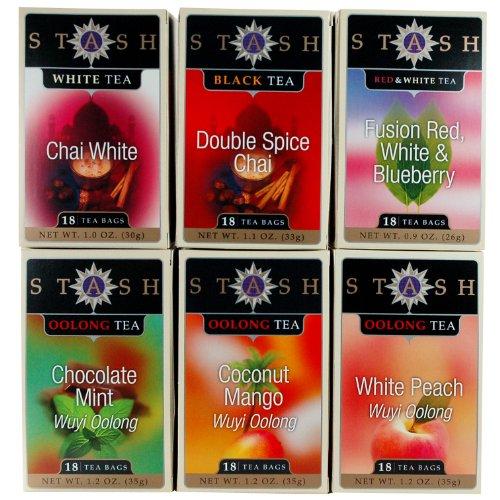 Exotic tea assortment