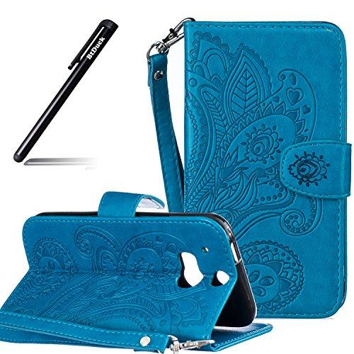 HTC-One-M8-Hlle-Leder-Wallet-CaseBtDuck-Brieftasche-Flip-Cover-Portable-Carrying-Strap-Embed-Patterned-Handytasche-PU-Leder-Schutzhlle-fr-HTC-One-M8-Folio-Tasche-Portemonnaie-Geldbrse-Cases-Shell-Hand