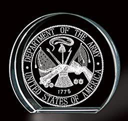 Army 3-D Etching Paperweight