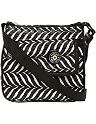 Lucky Enterprises Women's Sling Bag (Black And White, LK_HB_31)