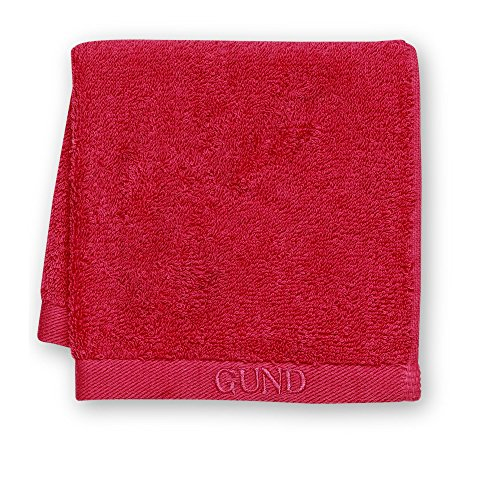 GUND Bear Essential Ringspun Face Towel, Gund Red, 12'' By 12''