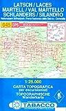 Latsch, Martell, Schlanders: Wanderkarte Tabacco 045. 1:25000 (Cartes Topograh)