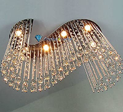 Crystal Rod Chandelier S Shape Rain Drop Pendant Lamp Living Room Celing Light ~ITEM #GH8 3H-J3/G8348332