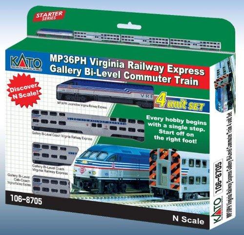 N MP36PH Communter Train Starter Set, VRE (4)