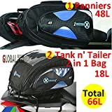 Oxford 1st Time Motorcycle < Sports Panniers + Tank n' Tailer 2 in 1 Bag 66L>