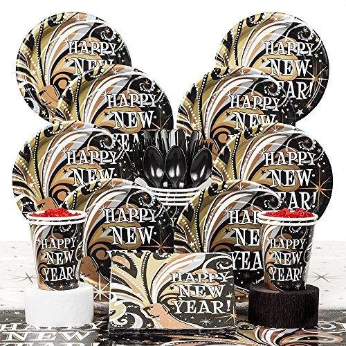 Costume Supercenter BBKIT394 New Years Burst Deluxe Kit (Serves 8)