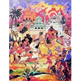 "Dolls Of India ""An European Ambassador Amidst Indian Royal Procession"" Reprint On Paper - Unframed (63.50 X 48.26..."
