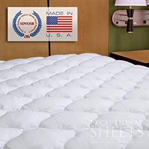 Waterproof Extra Plush Quilted Fitted Mattress Topper