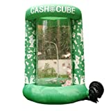 Inflatable Cash Cube Booth for Advertisment, Inflatable Money Grab Machine Promotion for Event (No Blower Included) (Green) (Color: Green)