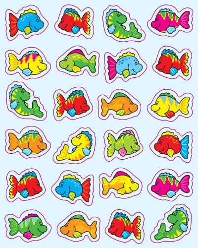 Carson Dellosa Fish Shape Stickers (5252)