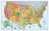 img - for Rand McNally Signature United States Wall Map - Laminated book / textbook / text book