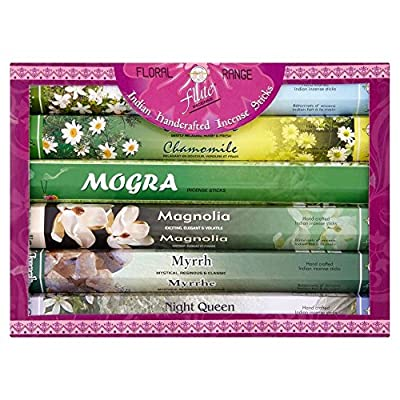 Flute Incense Gift Set Floral Range (6) from Grocery