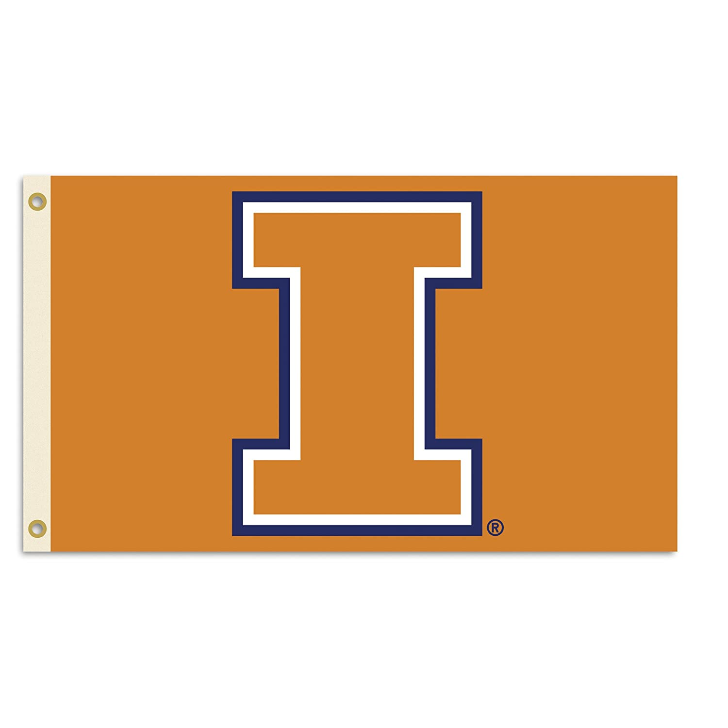 NCAA Illinois Fighting Illini 3-by-5 Foot Flag With Grommets ncaa south carolina gamecocks flag with grommets