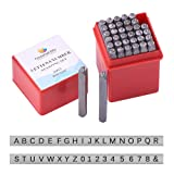 PandaHall Elite 36 Pcs Letter and Number Metal Stamp Set, 5/32 inch 4mm Alphabet A-Z and Number 0-9 and Symbol, Iron Uppercase Stamps Punch Press Tool for Imprinting on Metal Jewelry Leather Wood (Color: 36 Pcs - Letter & Numbers & Symbols 1, Tamaño: 5/32