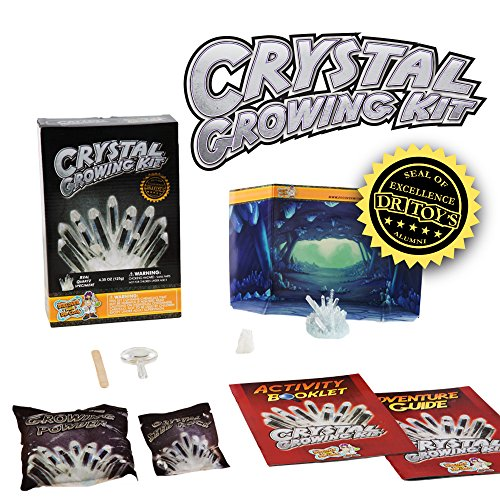 Crystal Growing Kit - Grow Stunning White Crystals (Includes Real Quartz)!