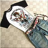 mts086 和柄 Tシャツ TATOOガール タトゥーガール TATOO ガール サーフボード 麦わら帽子【M/白】 メンズ 半袖 Tシャツ 半袖Tシャツ