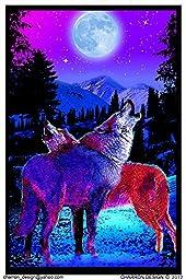 Timberwolves Flocked Blacklight Poster 23 x 35in