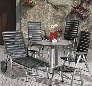 kettler 1400 2 elba klappsessel farbe silber. Black Bedroom Furniture Sets. Home Design Ideas