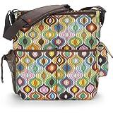 Skip Hop Jonathan Adler Dash Diaper Bags, Wave Multi (Discontinued by Manufacturer)