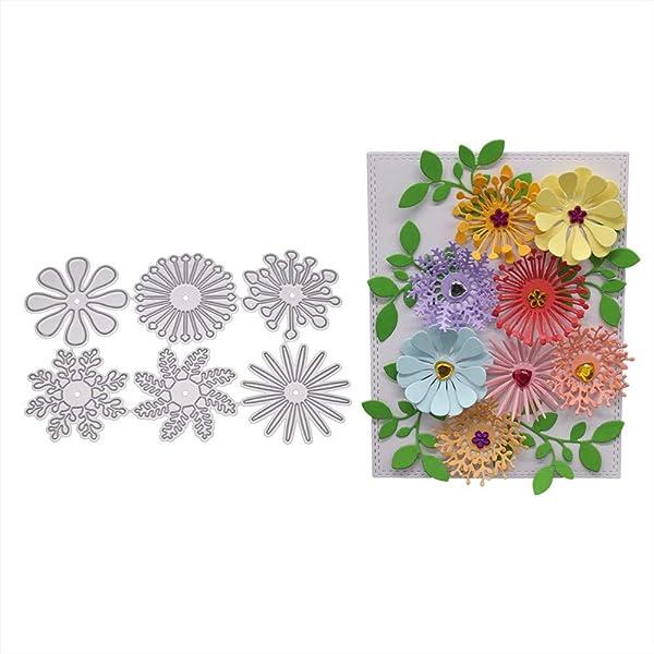 Blooms 3D Flower Dies Set Leave Craft Die Cut Scrapbooking Diy Cards Stencils