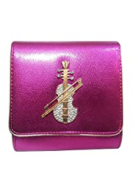 KIKS Women's Beautiful Eligant Stylish Party Wear Sling Handbag (Dark Pink) (S10764)