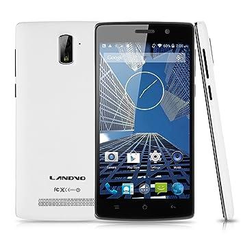 Landvo L200S 4G FDD-LTE Smartphone 5 pouce HD IPS Ecran Android 4.4 Quad Core MTK6582 Dual Caméra 8MP&2MP 1Go RAM+8Go ROM Dual SIM résolution 1280 x 720 mégapixel compatible opérateur français/belgique/Europée
