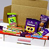 The Cadbury Christmas Fun Box-Chocolate Mousse Snowman, Freddo Popping Candy Crunchie, Curlywurly, Chomp, Fudge and Buttons- Great Stocking Filler and Gift Idea - By Moreton Gifts