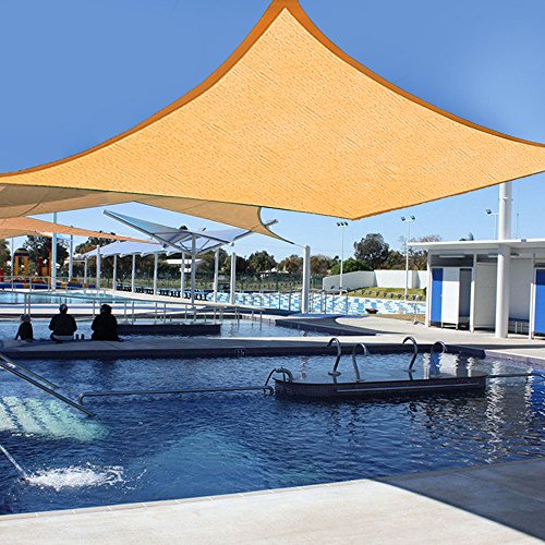 Yescom 20x16 Ft Outdoor UV Block Rectangle Sun Shade Sail Canopy Cover for Patio Pool Lawn Desert Sand (Shade Cover compare prices)