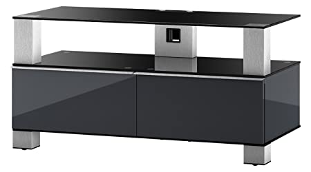 "Sonorous MD 9095-B-INX-GRP Greu TV-Möbel fur 42"" Fernseher"