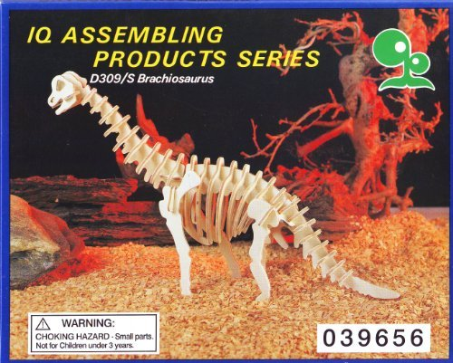 IQ ASSEMBLING PRODUCTS SERIES:D309/S BRACHIOSAURUS Dinosaur Model Kit, Wood, Balsa - 1