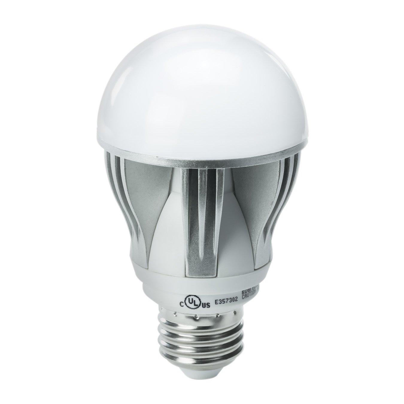 kobi electric k2l1 15 watt 75 watt a19 led 5000k cool white light bulb dimmab. Black Bedroom Furniture Sets. Home Design Ideas