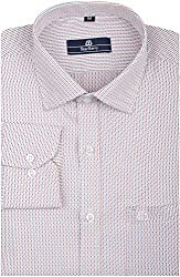 BearBerry Men's Formal Shirt (0017-BBST-1 _ 36, Blue and Red)