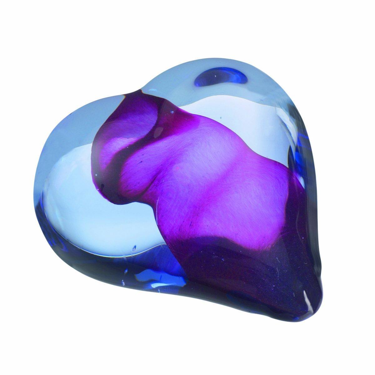 Kosta Boda Heartbeat, Blue/Pink
