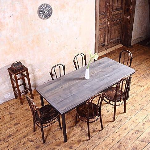 Servizio da tavola, in stile industriale, Anna (Grey)-Black (Mild steel), 10 seater W240xD90xH75cm
