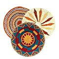 Handmade Bukedo and Raffia Basket Kitchen Fruit Bread Decorative Fair Trade Uganda Africa 11-12""