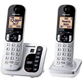 Panasonic KX-TGC222S Answering System with 2 Handsets (Color: Silver)