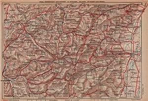 La Schlucht Colmar.Haut-Rhin.Alsace;1922 map: Posters & Prints