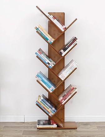 SUBBYE Mensole di stoccaggio Piano A Forma Di Albero A Pavimento Libreria Creativa Bambini Semplici Bamboo Libreria Ufficio Studente Piccoli Scaffali Dimensioni Facoltativo ( dimensioni : 5 layers )