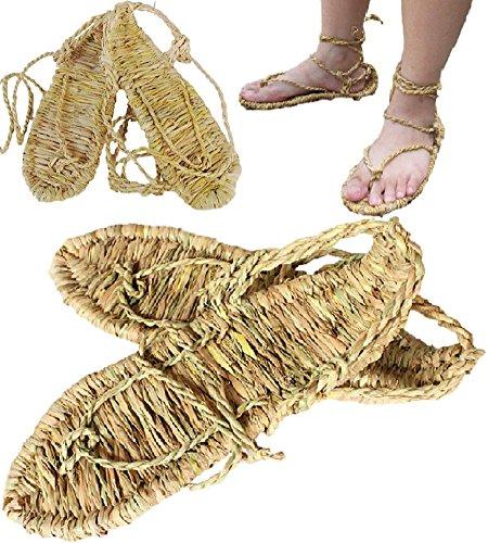 [SPJ: Waraji Japanese Bleach Straw Sandals Anime Cosplay Accessory] (Indian Policeman Costume)