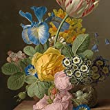Printhook Dael Jan Frans Van Still Life Of Roses In A Glass Vase- A3 Size Poster Art