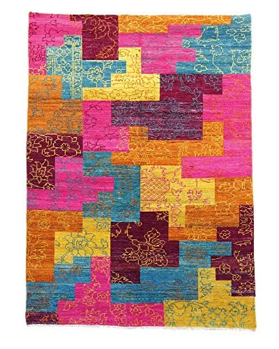 F.J. Kashanian One-of-a-Kind Hand-Knotted Jeremih Rug, Multi, 5′ x 8′ 1″