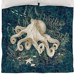 Amazon.com - Thumbprintz Duvet Cover, Twin, Octopus Vignette Blue -