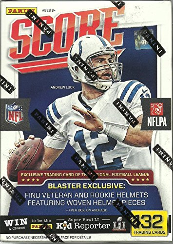 2016-Panini-Score-NFL-Football-Blaster-Box-11-Packs-12-Cards-Per-Pack-Including-One-Special-Exclusive-Rookie-or-Veteran-Helmet-Relic-Card