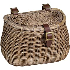 Nantucket Madaket Creel Basket with Lid Natural Grey