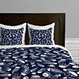 DENY Designs Jennifer Denty Jellyfish Duvet Cover, Twin