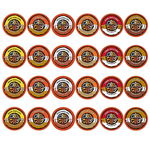 Crazy Cups Flavored Coffee, Single Serve Cups Variety Pack Sampler for the Keurig K Cup Brewer, 24 count (Keurig Cups Subscribe And Save compare prices)
