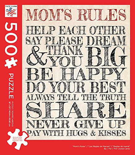 Andrews + Blaine 500 Piece Puzzle - Mom's Rules