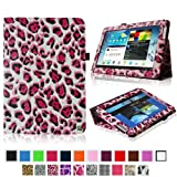 Fintie Slim Fit Folio Case Cover For Samsung Galaxy Note 10.1 Inch Tablet N8000 N8010 N8013 - Leopard Magenta
