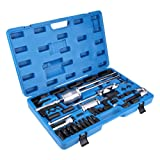JEHO 40Pcs Injector Extractor Puller Set Common Rail Injector Extractor Diesel Puller Injection Tool Kit