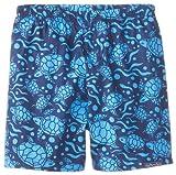 JoJo Maman Bebe Baby-Boys Newborn Swim Shorts, Blue Turtle, 6-12 Months